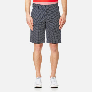 Lacoste L!ve Men's Bermuda Polka Dot Shorts - Navy Blue/White