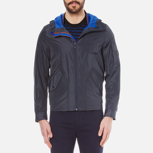 PS by Paul Smith Men's Hooded Bomber Jacket - Navy