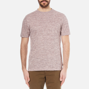 PS by Paul Smith Men's Textured Crew Neck T-Shirt - Pink