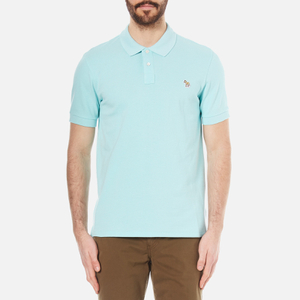 PS by Paul Smith Men's Regular Fit Zebra Polo Shirt - Turquoise