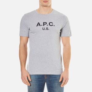 A.P.C. Men's A.P.C US Crew Neck T-Shirt - Gris Clair Chine