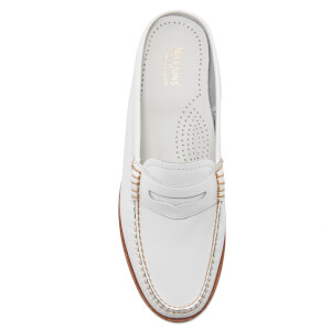 Bass Weejuns Women's Penny Slide Leather Loafers - White: Image 3