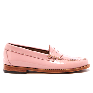 Bass Weejuns Women's Penny Wheel Patent Leather Loafers - Bridal Rose