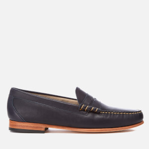 Bass Weejuns Men's Palm Springs Larson Mon Leather Penny Loafers - Navy