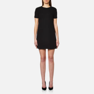 Versus Versace Women's Woven Short Sleeve Shift Dress - Black