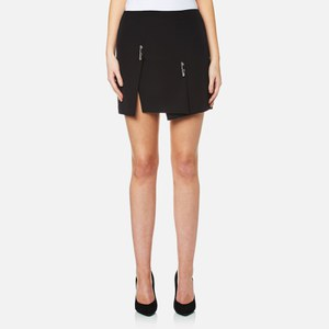 Versus Versace Women's Woven Quilt Skirt - Black