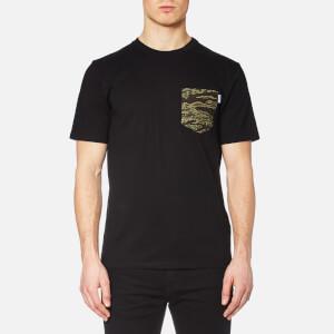 Carhartt Men's Short Sleeve Lester Pocket T-Shirt - Black/Camo Tiger