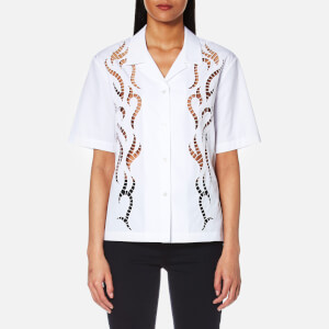 Alexander Wang Women's Boxy Hawaiian Shirt with Tattoo Embroidery - Bleach