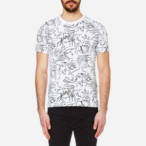 KENZO Men's All Over Sketches T-Shirt - White