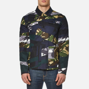 KENZO Men's Cotton Camo Jacket - Midnight Blue
