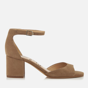 Sam Edelman Women's Susie Suede Blocked Heeled Sandals - Oatmeal