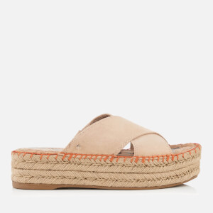 Sam Edelman Women's Natty Suede Espadrille Flatform Sandals - Natural Naked