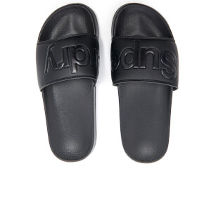 Superdry Men's Pool Slide Sandals - Black