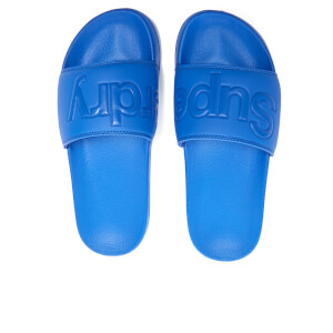 Superdry Men's Pool Slide Sandals - Nautical Blue