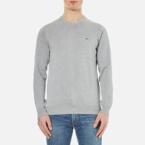Lacoste Men's Crew Neck Sweatshirt - Silver Chine