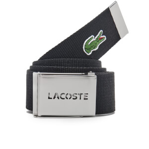 Lacoste Men's Perforated Plate Belt - Black