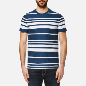 Lacoste Men's Striped T-Shirt - Inkwell/White