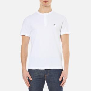 Lacoste Men's Henley Collar T-Shirt - White