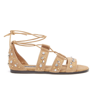 Senso Women's Felicia Suede Lace Up Sandals - Toffee