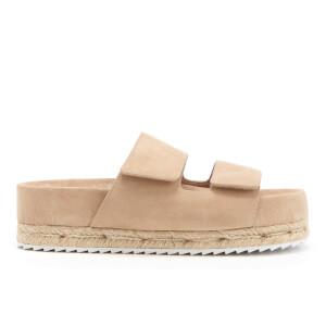 Senso Women's Klayton Suede Double Strap Flatform Sandals - Sand