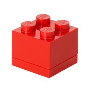 Mini Brique de rangement LEGO® Rouge 4 tenons