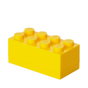 Mini Ladrillo de almacenamiento LEGO (8 espigas) - Amarillo