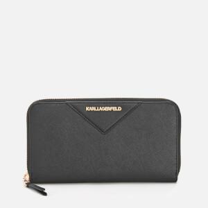 Karl Lagerfeld Women's K/Klassik Zip Around Wallet - Black