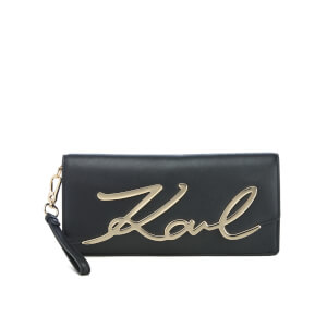 Karl Lagerfeld Women's K/Metal Signature Clutch - Black
