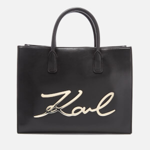 Karl Lagerfeld Women's K/Metal Signature Shopper Bag - Black