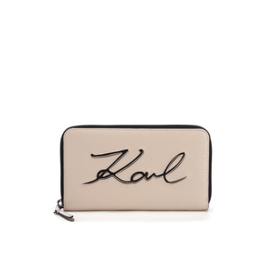 Karl Lagerfeld Women's K/Metal Signature Zip Wallet - Scarlet