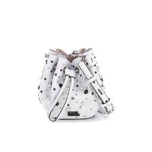 Karl Lagerfeld Women's K/Rocky Stud Drawstring Bag - White