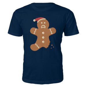 Ginger Bread Christmas T-Shirt - Navy
