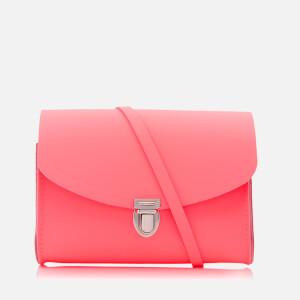 The Cambridge Satchel Company Women's Push Lock Shoulder Bag - Neon Coral