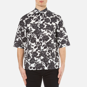 MSGM Men's Floral Short Sleeve Shirt - Multi