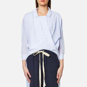 Paisie Women's Stripe Dipped Hem Blouse - Multi