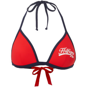 Tommy Hilfiger Women's Haidee Triangle Bikini Top - Fiery Red