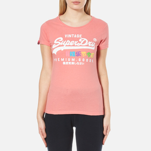 Superdry Women's Premium Goods Rainbow T-Shirt - Beach Pink