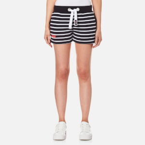 Superdry Women's Sun & Sea Breton Shorts - Navy/White Stripe