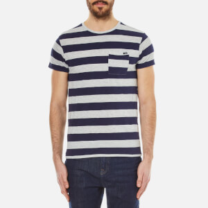 Scotch & Soda Men's One Pocket Distillery T-Shirt - Blue