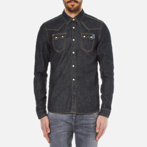 Scotch & Soda Men's Sawtooth Long Sleeve Shirt - Indigo