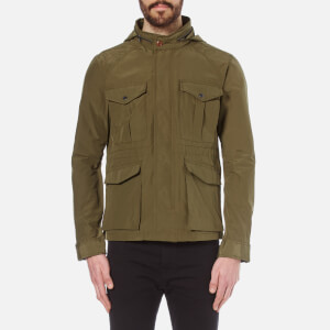 Scotch & Soda Men's Six Pocket Military Jacket - Military Green