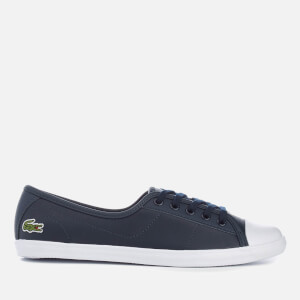 Lacoste Women's Ziane Leather Chunky Pumps - Navy