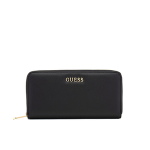 Guess Women's Isabeau Large Zip Around Purse - Black