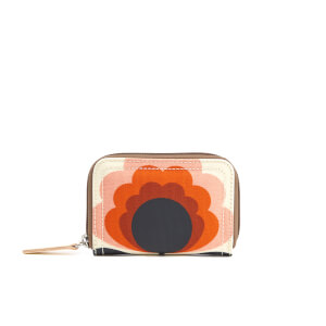 Orla Kiely Women's Sunset Medium Zip Wallet - Sunset