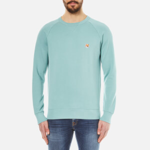 Maison Kitsuné Men's Fox Head Patch Sweatshirt - Green
