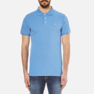 Maison Kitsuné Men's Tricolour Fox Polo Shirt - Steel