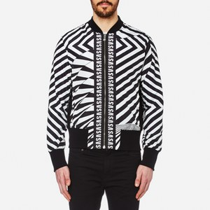 Versus Versace Men's All Over Print Bomber Jacket - Black/White