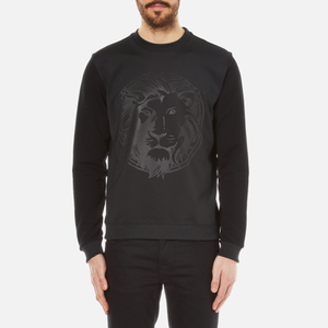 Versus Versace Men's Embossed Medusa Lion Scuba Crew Neck Jumper - Black