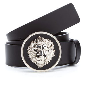Versus Versace Men's Round Logo Belt - Black