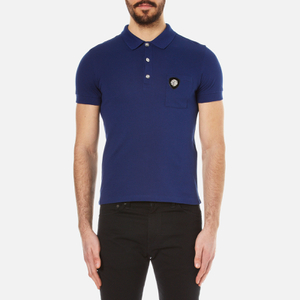 Versus Versace Men's Medusa Logo Polo Shirt - Blue